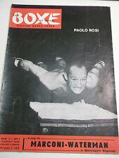 RIVISTA LA BOXE NEL MONDO N.2 1958 PUGILE PAOLO ROSI MARCON - WATERMAN I-10-38