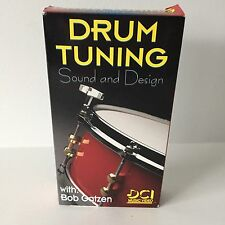 Drum Tuning Sound and Design Instructional VHS Video with Bob Gatzen