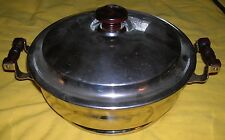 "VINTAGE MANNING BOWMAN & CO CHAFING SERVER  WITH 8"" GRANITEWARE BOWL"