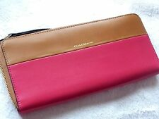 COACH~Colorblock Boarskin Leather Zip Around Wallet Style #51800~NWT~$258 MSRP