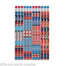 Marvel Ultimate SPIDER MAN Pencils Birthday Party Favor Supplies SPIDERMAN ~ 12