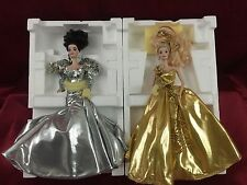 Barbie Gold And Silver Porcelain Barbie'Gold Sensation' & 'Silver Starlight'