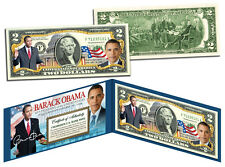 BARACK OBAMA Official *44th President* Genuine Legal Tender Colorized US $2 Bill