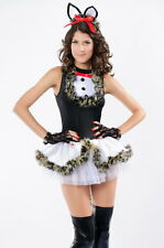 Sexy Women's Lovely Kissable Kitty Kat Fancy Dress Costume Mini Dress