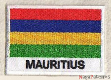 patch 1003- Ecusson patche drapeau ILE MAURICE 70/45 mm