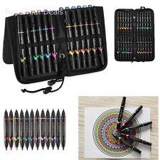 Prismacolor Premier Double Ended ART MARKERS, 24 Pcs Fine & Brush Tip MARKER SET