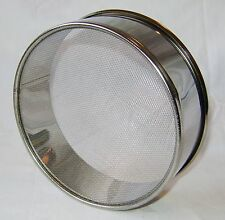"NEW STAINLESS STEEL ROUND FLOUR SIFTER PAN 16 cm 6.5"" DIAMETER PRIMA"