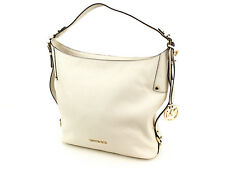 Michael Kors Ecru Pebble Leather Bedford Belted Large Shoulder Bag Hobo vanilla