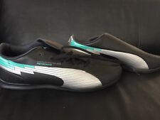 PUMA MERCEDES AMG PETRONAS BLACK AND SILVER SHOES SNEAKERS RUNNERS FORMULA 1 F1