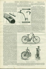 1897 Bicycle History Faun Folding Cycle Vintage Scientific American Old Article