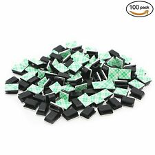 Pasow 100 pcs autocollante câble voiture tie cable clips câble drop wire holder org