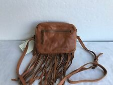 NWT Authentic LUCKY BRAND LB2773 KYLE LEATHER TOBACCO SHOULDER CROSS BODY BAG