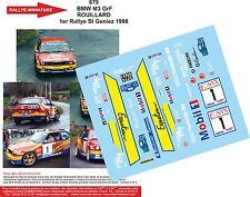 DÉCALS 1/24 réf 679  BMW M3 GrF  ROUILLARD 1er Rallye St Geniez 1998