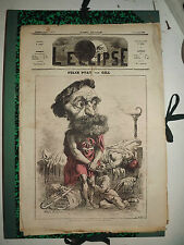 L'ECLIPSE,N°95  journal du 14 novembre 1869,( felix pyat )  par GILL.