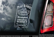 Peaky Blinders - Car Window Sticker- The Garrison Whisky Label Sign Decal - V01