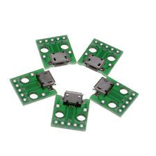 5X Micro Female USB To DIP Adapter Converter For 2.54mm PCB Board Power New