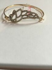 $45 Betsey Johnson HEAVEN SENT WING HEART Cuff Bracelet