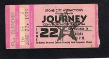 1979 AC/DC Bon Scott Journey concert ticket stub San Antonio If You Want Blood