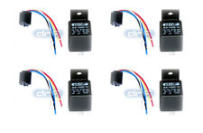 (4 PAIR) 30/40 AMP 12V BOSCH STYLE RELAY HARNESS SPDT + 100% COPPER WIRES