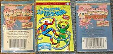AMAZING SPIDERMAN RARE GIVEAWAY PROMO MINI BUBBLE FUNNIES COMIC SEALED WITH GUM