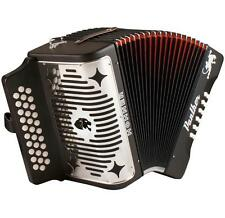NEW Hohner PANTHER FBbEb FA 31 Button BLACK Diatonic Accordion + WARRANTY