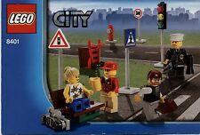 Lego City # 8401 Minifigure Collection  - Bauanleitung (keine Steine!)