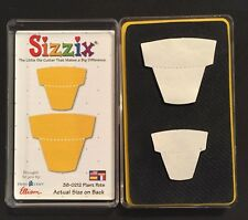 Sizzix Die 2 Gardening Plant Pots Scrapbook Paper Craft Retired NEW WCase Yellow
