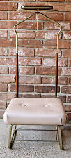 VTG Pearl Wick New York Valet Stand Suit Rack Silent Butler Mens Dressing Chair