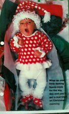 Knitting pattern Christmas Outfit Baby - Sweater, Hat & Bootees 3 to 12 months