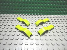 Lego 4 Lime Green 4x1 mudguard car truck