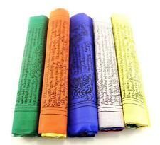 "Large TIBETAN PRAYER FLAGS ~ 8"" Wide and 9"" Long ~ 5 Rolls, 50 flags"