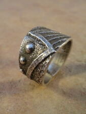Old Style Navajo Sterling Silver Tufa Cast Ring sz.9 3/4