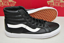 Vans SK8 Hi Reissue Premium Leather Black Men's Size 9