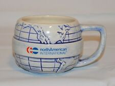 Vtg. North American International World Map Globe Made in USA Coffee Tea Cup Mug