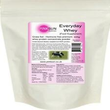 Whey Grass Fed Hormone Free Protein Concentrate Powder 420G Unflavoured Pink Sun