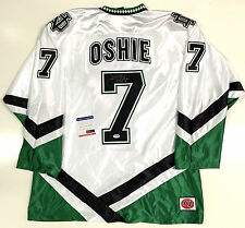 TJ OSHIE SIGNED NORTH DAKOTA FIGHTING SIOUX WHITE JERSEY PSA/DNA COA CAPITALS