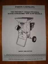 (EMAILED) Troy Bilt Tomahawk & Super Tomahawk Chipper/Shredder Parts Manual