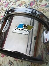 "LUDWIG 8"" CONCERT TOM 70ER VINTAGE STAINLESS STEEL SMALL LUGS P1216D BRACKET"