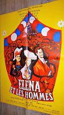 ELENA ET LES HOMMES ! jean renoir  jean marais affiche cinema 1956
