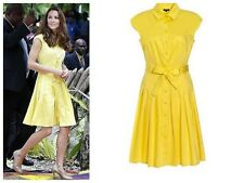 Jaeger Yellow Dress, Size 16, Stunning! As Seen On