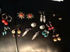 Assorted costume jewelry earrings lot of 10 pair