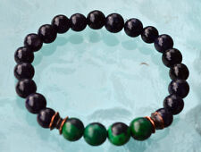 Rare Green Lapis Lazuli Jade Handmade Mala Beads Bracelet - Increase Wisdom, Com