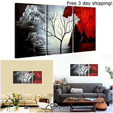 3 Panels Wall Decor Canvas Print Home Art Framed Landscape Abstract Painting