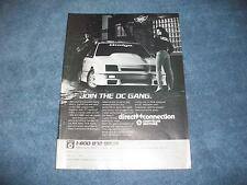 1987 Shelby Charger Direct Connection Drag Team Ad Dodge Chrysler