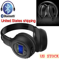 US Wireless Bluetooth Foldable Headset Stereo Headphone Earphone With Microphone