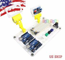 Arduino UNO R3 Work Board Kit with MB-103 Breadboard Space DC Step Down Hol