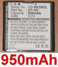 Batería 950mAh tipo BP-5M Para Nokia 6500 Slide