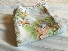 CLASSIC WINNIE THE POOH Fishing Lake Lace Lined Baby Blanket Fabric Material