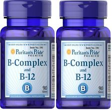 2 x 90 = 180 tablets, Puritan's Pride Vitamin B-Complex and B-12