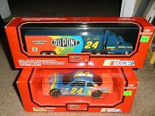 NEW JEFF GORDON #24 DUPONT 1993 ROOKIE YEAR DIECAST 1/24 CAR & 1/64 TRANSPORTER